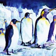 Arctic Penquins Art Print