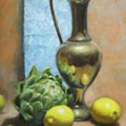 Artichoke And Lemons Art Print