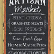 Artisan Market Sign Art Print
