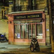 Artisan Patissier Montmartre Paris Art Print