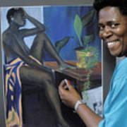 Artist In Bermuda Art Print