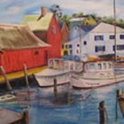 Artist In New England Dock Art Print