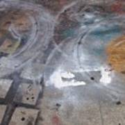 Artist Sidewalk 3 Art Print