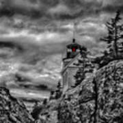 Artistic Bass Harbor Lighthouse In Acadia Art Print