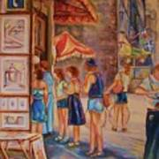 Artists Corner Rue St Jacques Art Print