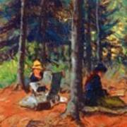 Artists In The Woods Art Print