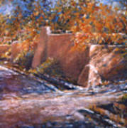 asequia Madre in Fall Art Print