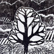 Ash Tree Art Print by Becca Thorne