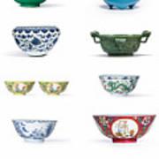 Asian Art Chinese Pottery - Bowls Art Print