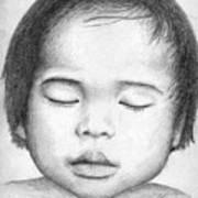 Asian Baby Art Print