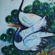 Asian Cranes 1 Art Print