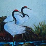 Asian Cranes 2 Art Print