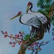 Asian Cranes 4 Art Print