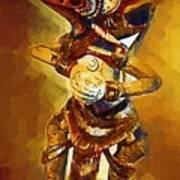 Asian Dragon Man Art Print