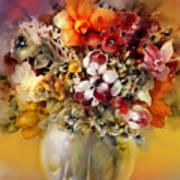 Asian Flowers Art Print