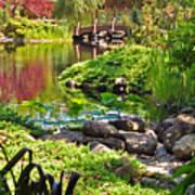 Asian Garden 3 Art Print