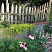 Ask Me About My Garden Art Print