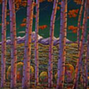 Aspen At Night Art Print