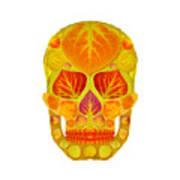 Aspen Leaf Skull 13 Art Print