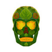 Aspen Leaf Skull 9 Art Print
