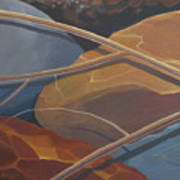 Aspen Rain Branch2 Art Print