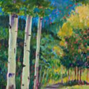 Aspen Trails Print by Billie Colson