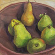 Assorted Pears Art Print