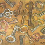 Assorted Skeleton Keys Art Print
