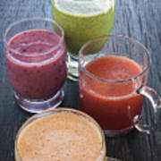 Assorted Smoothies Art Print
