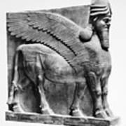 Assyria: Bull Scultpure Art Print