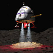 Asteroid Miners Mule Art Print
