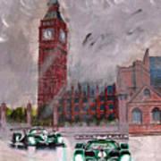 Aston Martin Racing In London Art Print