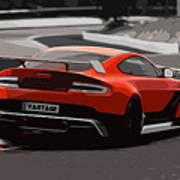 Aston Martin Vantage Gt12 - Trackday Art Print