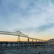 Astoria Megler Bridge By Riverwalk Panorama Art Print