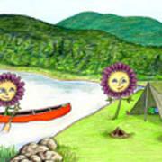Astors Camping Art Print by Kathleen Walker