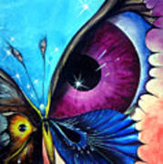 Astral Butterfly. Soul - Memory - Mind Art Print