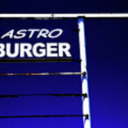 Astro Burger Art Print