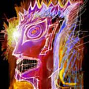 Astroface Firehead Art Print