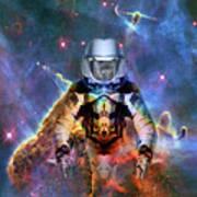 Astronaut Disintegration Art Print