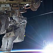 Astronaut Terry Virts Eva Art Print