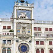 Astronomical Clock At San Marco Square Art Print