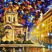 Asuncion Paraguay - Palette Knife Oil Painting On Canvas By Leonid Afremov Art Print