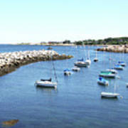 At Anchor In Rockport Ma Harbor Art Print