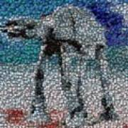 At-at Bottle Cap Mosaic Art Print by Paul Van Scott