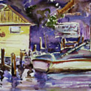 At Boat House 3 Art Print