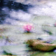 At Claude Monet's Water Garden 12 Art Print