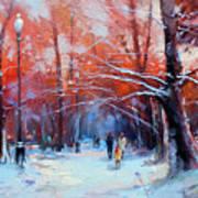 At Dawn On Tverskoy Boulevard Art Print