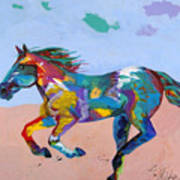 At Full Gallop Art Print