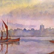 At Harbor Venice Art Print