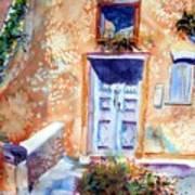 At Home In Santorini Greece  Art Print